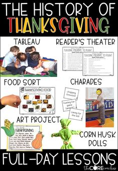 Have fun teaching about Thanksgiving with these creative lessons.  #thanksgivingactivities