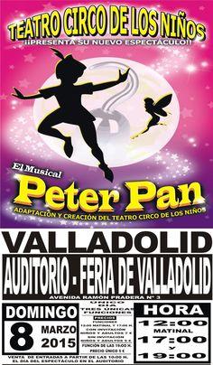 El Teatro Circo de los Niños presenta el domingo 8 de marzo en el auditorio de la Feria de Valladolid su nuevo espectáculo musical Peter Pan.