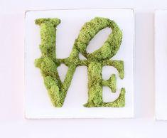 Moss Wall Art, Moss Art, Moss Graffiti, Moss Decor, Faux Grass, Moss Terrarium, Green Art, Botanical Art, Shadow Box