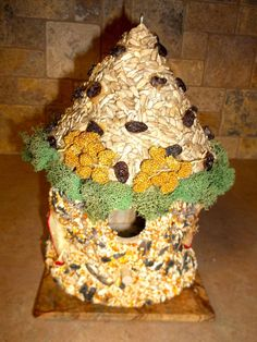 Edible Birdhouses hand seeded and decorated - unique and lovely gift