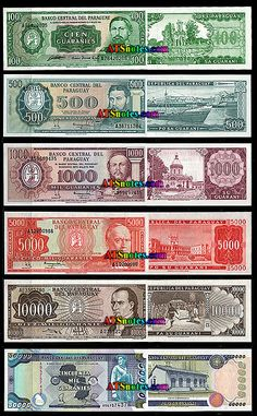 paraguay currency | Paraguay banknotes - Paraguay paper money catalog and Paraguayan ...