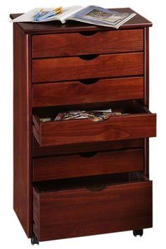 Stanton 6 + 1 Drawer Wide Storage Cart - Storage Carts & Chests - Storage & Organization - Home Decor | HomeDecorators.com