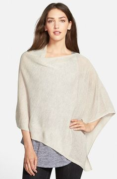 Eileen Fisher Mesh Detail Wool Knit Poncho available at #Nordstrom