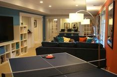 Inspirational Narrow Basement Ideas