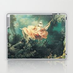 "Homage to Fragonard, ""The Swinging Stormtrooper"". Laptop & iPad Skin by Cisternas - $25.00"