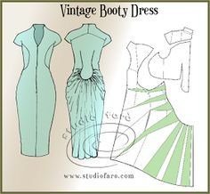 well-suited: Pattern Puzzle - Vintage Booty Dress