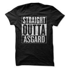 Straight Outta Asgard Vikings Tee. TV and Movie T-Shirts, Hoodies, Tees, Gifts, Clothing, Coffee Mugs, Quotes, Sayings