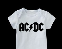 AC/DC Onesie-Music Onesie-Rock Onesie-ac/dc infant clothes-Cool Baby Clothes by FromAtoZbyTami on Etsy