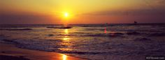 Sunset At Beach FB Cover Photo
