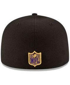 New Era Minnesota Vikings Team Basic 59FIFTY Fitted Cap - Black 6 7/8
