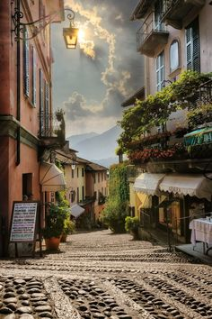Walking down a street like this would fulfill so many fantasies. Bellagio - Lake Como - Italy