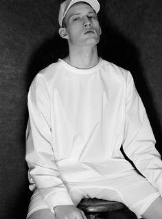 White Light: Bastian Thiery Dons Spring Whites for VMAN