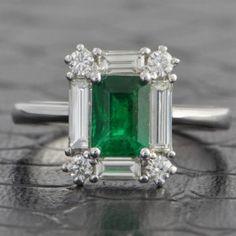 Enchanting+0.70+Carat+Emerald+and+Diamond+Ring+$5,999.00