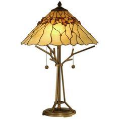 Bronze Branch Base Dale Tiffany Table Lamp -