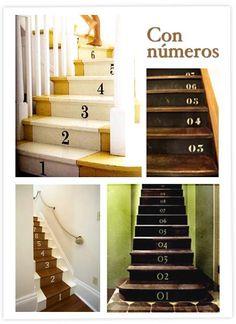 stairs numbers escaliers numéros escaleras números