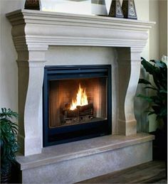 The Monaco Stone Fireplace Mantel From Design The Space