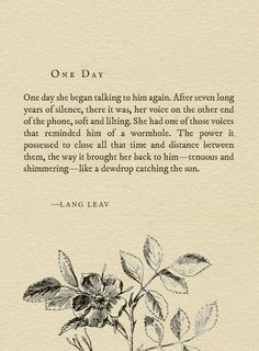 One Day by Lang Leav