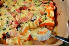 Sweet potato & ham casserole-great for left overs from the holidays.