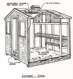Plan for an 8x8 Layer house for 15-20 hens.   http://pubs.ext.vt.edu/2902/2902-1092/2902-1092.html