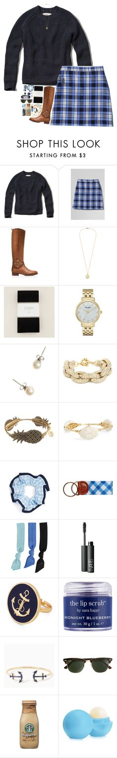 """""""February vacation is here!"""" by sperry-topsider ❤ liked on Polyvore featuring Abercrombie & Fitch, Lands' End, Tory Burch, J.Crew, Kate Spade, Bourbon and Boweties, L. Erickson, Splendid, NARS Cosmetics and Sara Happ"""