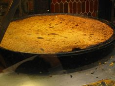 Socca of Nice also known as La Cade in Toulon (made with chick peas flour)