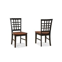 Shop for Arlington Lattice Back and Wood Seat Side Chair-set of 2. Get free shipping at Overstock.com - Your Online Furniture Outlet Store! Get 5% in rewards with Club O!