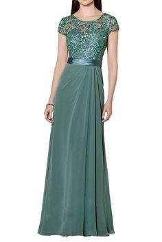 Promgirl House Damen Elegant Spitze A-Linie Abendkleider Brautmutter Ballkleider Lang mit Aermel: Amazon.de: Bekleidung