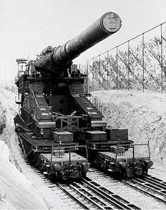 Gustav Kanone (E) (80cm): This gigantic gun owed its origin to a 1935 Wehrmacht study into what would be needed to penetrate the thickness of the concrete used in the newly completed French Maginot Line. In early 1937, the proprietor of Krupp-AG, Gustav Krupp von Bohlen, laid a set of drawings before Hitler, for an 80cm gun. Hitler approved and consented to the allocation of 10 million Marks for the project.