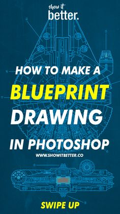 DOPE!  Learn how to make a blueprint style drawing!