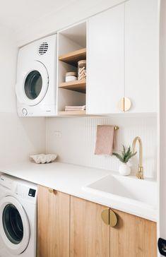 Laundry Room Remodel, Laundry Room Storage, Laundry In Bathroom, Laundry Nook, Laundry Decor, Small Laundry, Remodel Bathroom, Storage Spaces, Bathroom Renos