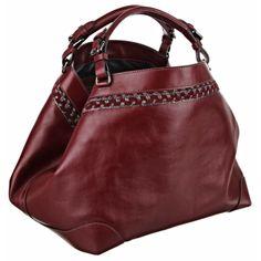 Caroline De Marchi Cubo Burgundy Medium Leather Handbag (2,270 CAD) ❤ liked on Polyvore featuring bags, handbags, purses, сумки, burgundy, leather purse, burgundy leather handbag, burgundy handbag, leather handbags and red leather bag