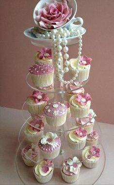 Ladies Tea Party Cupcakes #teaparty