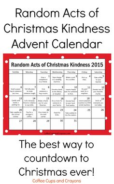 Kindness is the Best Way to Countdown to Christmas