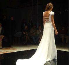 Vestido de novia de Pol Nuñez en Pasarela Sevilla.