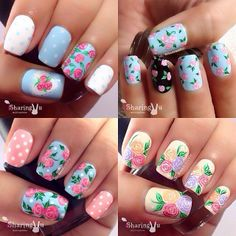 ❤️❤️ Coming Up Roses, Nail Art, Nails, My Style, Painting, Inspiration, Beauty, Instagram, Finger Nails