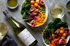 This bowl is simple to make, full of flavour and will satisfy you in every way. It pairs perfectly with Lautus De-Alcoholised Savvy White wine. Poke Bowl, Food Photography Styling, Fresh Green, Italian Style, Wine Recipes, White Wine, I Foods, Berries, Good Food