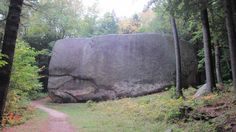 Madison Boulder in Madison, New Hampshire.  One of the largest known glacial erratics in North America.