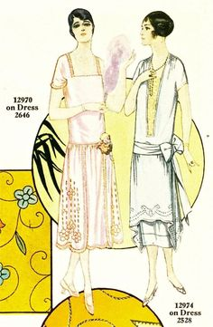 Embroidered 1920's Dresses from Pictorial Review Embroidery Magazine