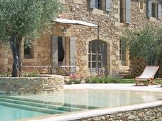 A charming house with a transparent pool! Gazebos, Charming House, Dream Pools, Stone Houses, Garden Pool, Pool Houses, Exterior Design, Outdoor Gardens, Beautiful Homes