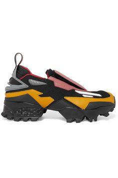 Reebok - Pyer Moss Mesh, Rubber And Leather Slip-on Sneakers - Black Prada Clutch, Kids Shows, Personal Shopping, Black Mesh, Slip On Sneakers, Leather Slip Ons, World Of Fashion, Luxury Branding, Reebok