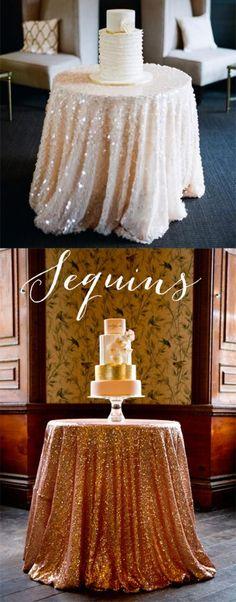 Wedding Trends 2014 - sequin table linen