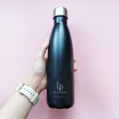⚫️Matt Black⚫️ The best choice to support the environment - double wall vacuum insulated drinking bottle on the go💧💧💧  #ecobottle #reusablebottle #ecobusiness #ecoliving #nomoreplastic #beachclean #naturalproducts #plasticfreechallenge #livesustainably #sustainableliving #environmentallyfriendly #sustainablelifestyle #zerowaste #ecoliving #gogreen Stainless Steel Drink Bottles, Clean Beach, Drinking, Water Bottle, Environment, Good Things, Wall, Black, Beverage