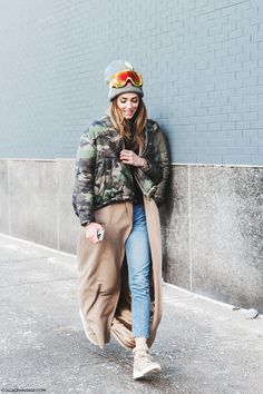 Hitting the streets in ski gear. NYC #ChiaraFerragni