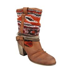 NEED THESE TO ADD TO MY COLLECTION!!  TOLTECA COGNAC LEATHER women's bootie mid western - Steve Madden