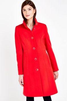 Wallis Red Funnel Coat