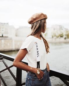 """JULIE SARIÑANA on Instagram: """"Sometimes all you need is a good tee @shop_sincerelyjules and Chanel suspenders. ❤️…"""""""