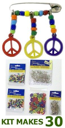 Girl Scouts SWAPS - Coiless Peace Pin Kit - MakingFriends Online Store