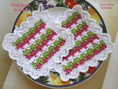 PINK ROSE CROCHET /: Toalhinha e Pega Panelas Sassy Shells