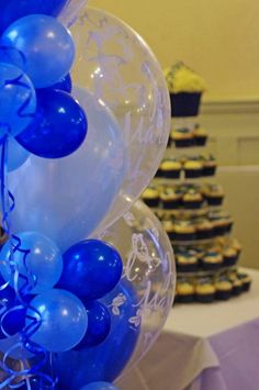 Royal blue wedding balloons