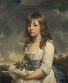 Sir William Beechey, 1753–1839, British, Portrait of a Girl, ca. 1790, Oil on canvas, Yale Center for British Art, Paul Mellon Collection  cropped to image, recto, unframed